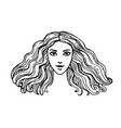 ink sketch woman vector image