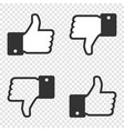 like icon set of like and dislike icon on vector image vector image