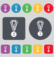 medal for first place icon sign A set of 12 vector image vector image