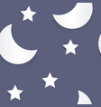 moon and stars paper seamless pattern vector image vector image