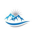 mountains logo icon vector image vector image