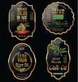olive oil retro vintage background collection 2 vector image