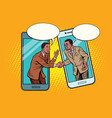 online the talks of the two businessmen vector image vector image