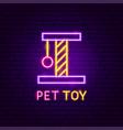 pet toy neon label vector image