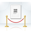 picture frame and gold rope barrier constructor vector image vector image