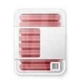 Pork sausages vector image