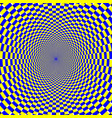 psychedelic optical spiral with radial rays vector image vector image