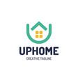 real estate house logo top arrow up house vector image