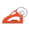 red steam iron household vector image