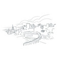 salt lake city utah usa america sketch city line vector image