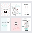 set easter cards vector image vector image