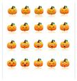 set halloween pumpkins vector image vector image
