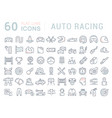 set line icons auto racing vector image