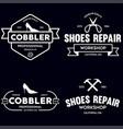 set of vintage logos labels badges vector image vector image