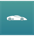 Silhouette of sport car for racing sports vector image vector image