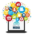 Social media and entertainment graphic design vector image vector image