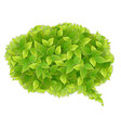 speech cloud of green leaves vector image