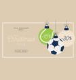 sport merry christmas sale horizontal banner vector image vector image