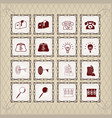 square icons in vintage style vector image