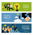success business banner set vector image vector image
