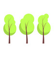 summer trees collection poster vector image