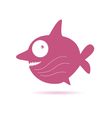 sweet pink fish vector image vector image