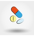 Tablets and pills set vector image
