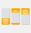 templates for vertical web banners with place vector image vector image