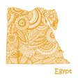 textured map of egypt hand drawn ethno vector image vector image
