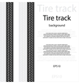 Tire track with text vector image vector image