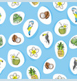 tropical seamless pattern with hand drawn animals vector image