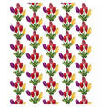 Tulip Flowers Bouquet pattern vector image vector image