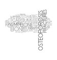 what is osteoporosis text word cloud concept vector image vector image