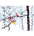 Winter Forest and Winter Landscape vector image vector image