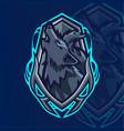 wolf esport mascot logo design vector image vector image