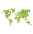 world map made polygonal shapes vector image vector image