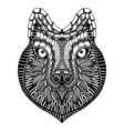 Zentangle stylized Wolf face vector image vector image