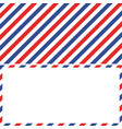 air mail background and frame envelope letter vector image