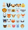 set of cute cartoon animals vector image