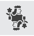 Jack playing card icon vector image