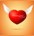 Soaring red heart with wings vector image