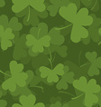 Green clover seamless pattern 3D background for vector image
