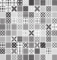 100 seamless set geometric patterns monochrome vector image vector image