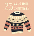 25 days until christmas vector image vector image
