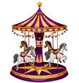 A carrousel ride vector image vector image