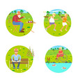 banners of retired elderly seniors vector image vector image