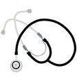 Black stethoscope vector image