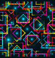 bright rhombuses and squares with blue highlights vector image vector image