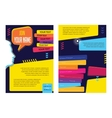 business infographic concept layout vector image vector image
