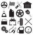 Car Service and Tool Icons vector image vector image